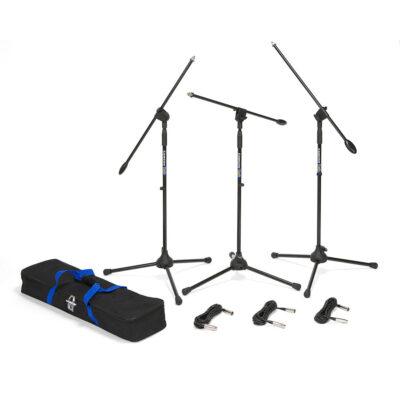 Samson BL3VP - Set 3 aste per Microfono - Giraffa - Ultraleggere - Treppiede