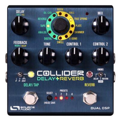 Source Audio SA263 COLLIDER DELAY+REVERB - Pedale stereo Delay & Reverb per chitarra e basso