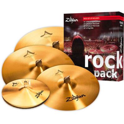 Zildjian Cartone 5 A ''Rock'' (A0801R): ride + hi-hat + 2 crash