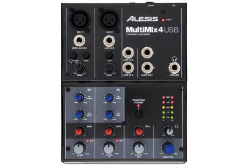 Alesis Multimix 4 USB Mixer 4 Canali