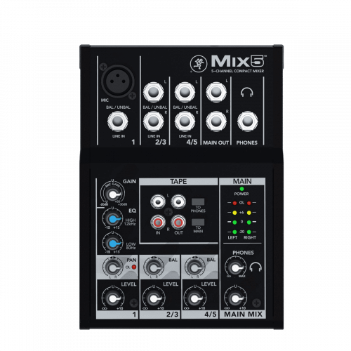 Mackie Mix5 Mixer 5 Canali