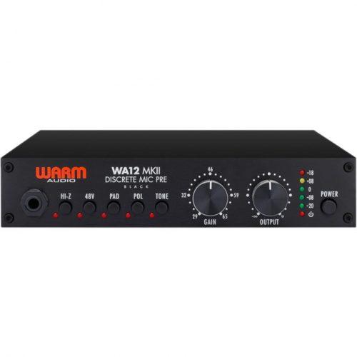 Warm Audio WA12 MKII Black Preamp. Microfonico