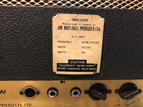 Marshall Jmp head 50w tremolo 1970