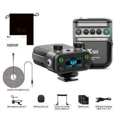 Xvive U5 LAVALIER - Sistema wireless digitale per camera DSLR o Broadcast