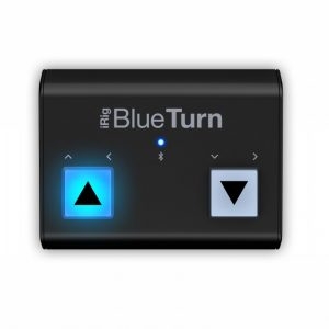 IK Multimedia iRig BlueTurn Gira Pagine Bluetooth
