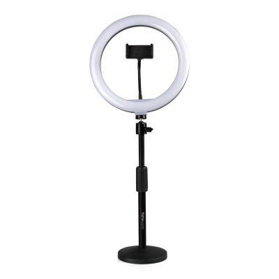 Gator Frameworks GFW-RINGLIGHTDSKT - anello led con stand da tavolo a base rotonda e clamp per smartphone