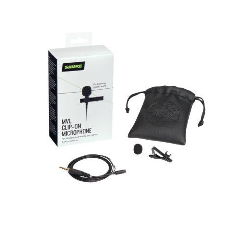 Shure MVL Mic lavalier condensatore omni smartphone/tablet